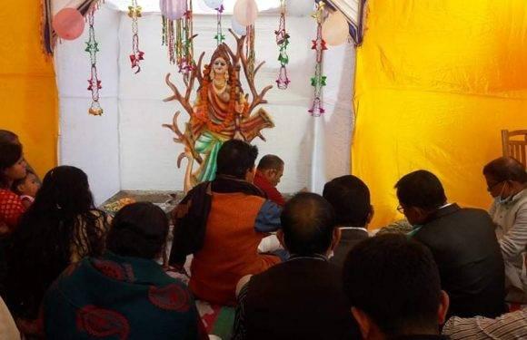 রাণীশংকৈলে হিন্দু সম্প্রদায়ের সরস্বর্তী পুজার উৎসব পালন