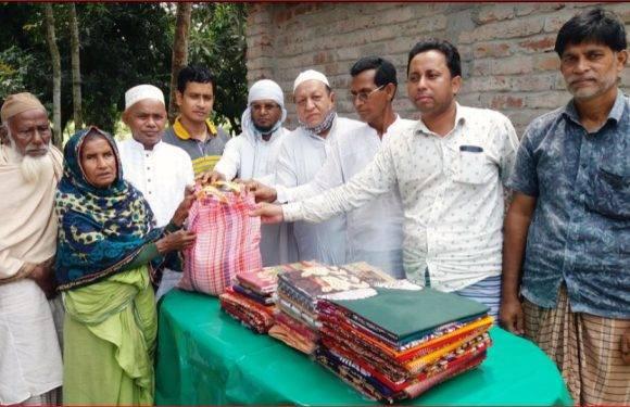 দিনাজপুর সদরে ঈদ উপলক্ষে খাদ্য ও শাড়ী বিতরণ